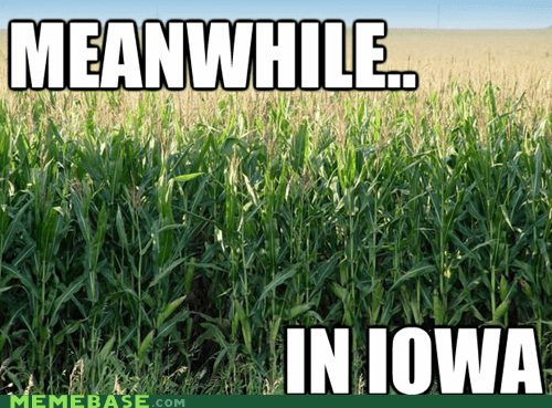 and not a single f was gi corn Iowa Meanwhile Memes - 6372121600
