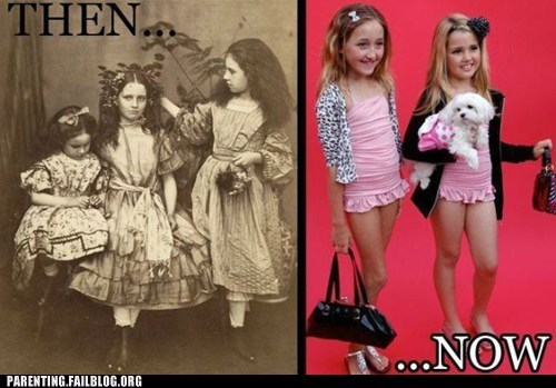 girls-outfits Then And Now young girls