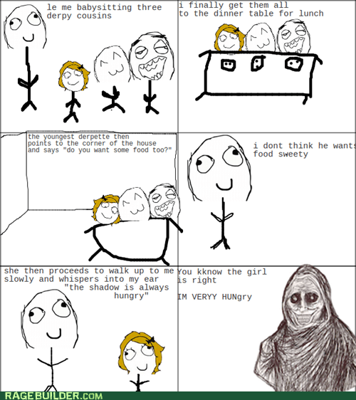 creepy food kids Rage Comics shadowlurker - 6372303872