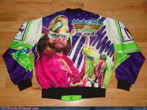 90s,jacket,macho man,macho man randy savage,neon,wrestling,wwf