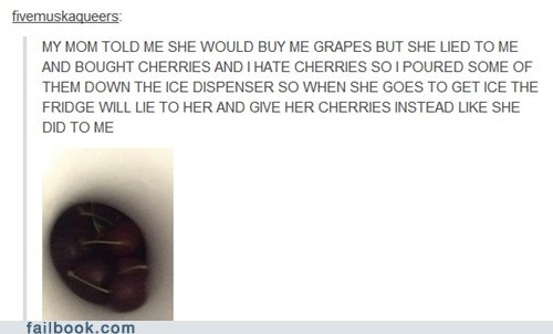 cherries,grapes,ice,tumblr