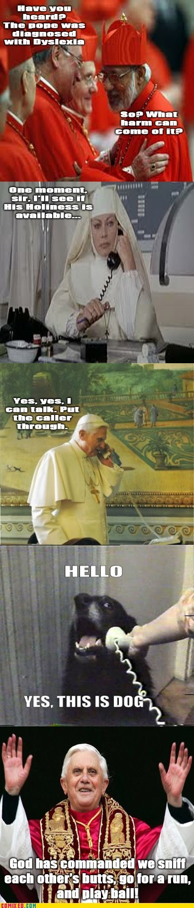 dyslexia god pope sniffing butts the internets this is dog - 6372564736