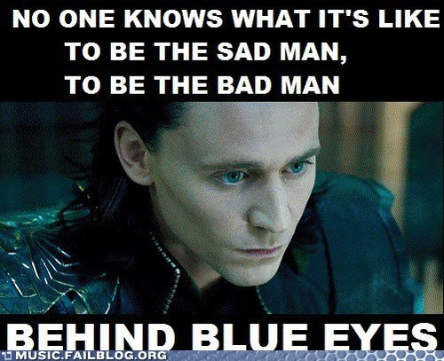 avengers,behind blue eyes,loki,the who