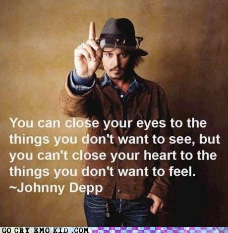 best of week deep feels Johnny Depp quotes weird kid