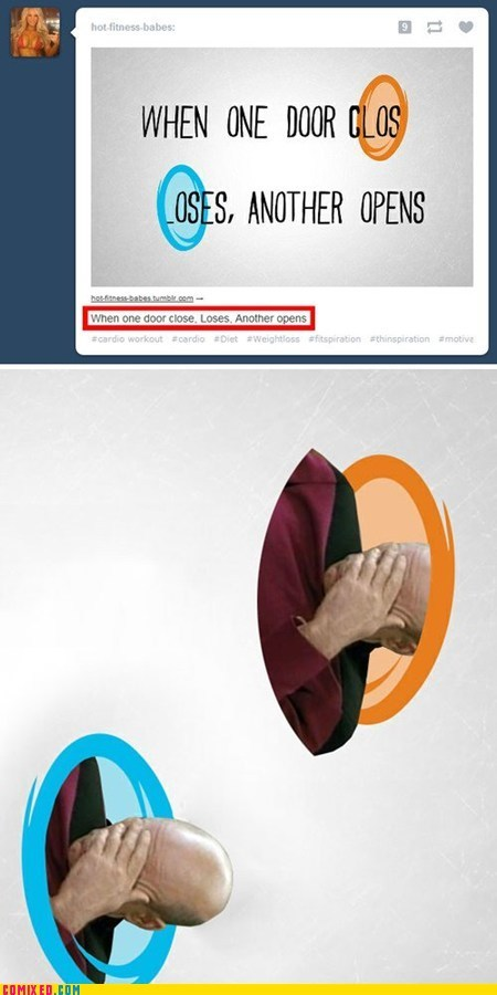 dumb,picard facepalm,Portal,the internets,tumblr
