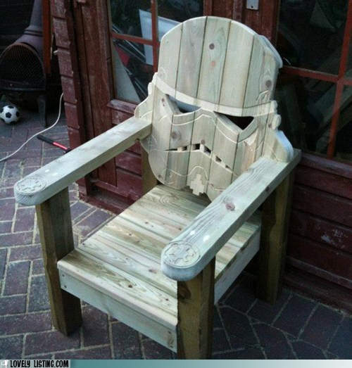 best of the week,chair,outdoor,patio,stormtrooper,wood