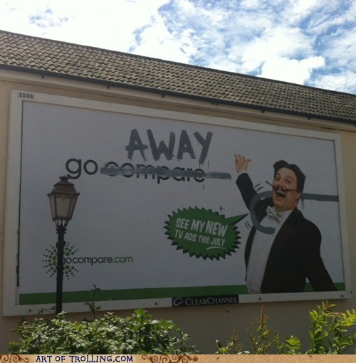 Ad go away IRL sign - 6372776192