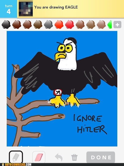 draw something,eagle,ignore hitler,new take
