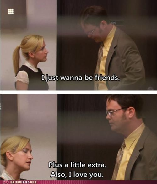 a little extra,Angela,dwight,just friends,love,the office
