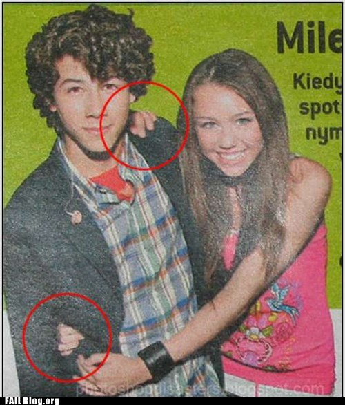 Ad,jonas brothers,miley cyrus,photoshop,too many hands