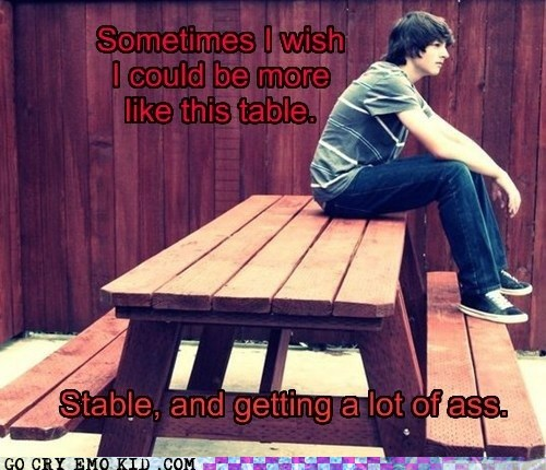get it together,sitting,table,weird kid