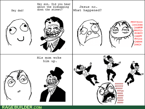 kid napping,kidnapping,Rage Comics,troll dad