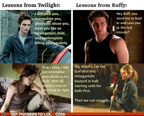 Twilight, Buffy the Vampire Slayer - Life Lessons