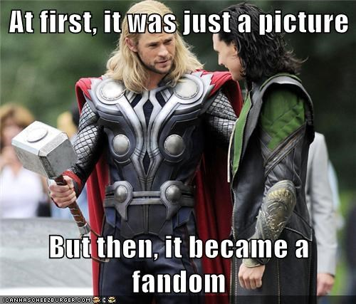 at first,avengers,chris hemsworth,fandom,fanfiction,loki,picture,tom hiddleston