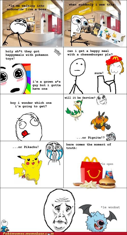 McDonald's rage comic Rage Comics repel toys woobat - 6373644032
