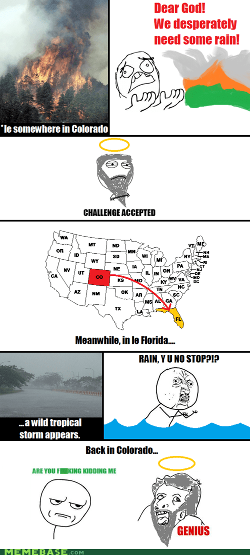 Colorado,florida,god,news,Rage Comics,rain