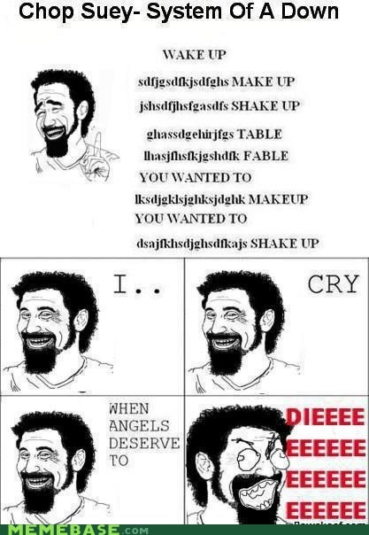 system of a down,chop suey,lyrics,Rage Comics