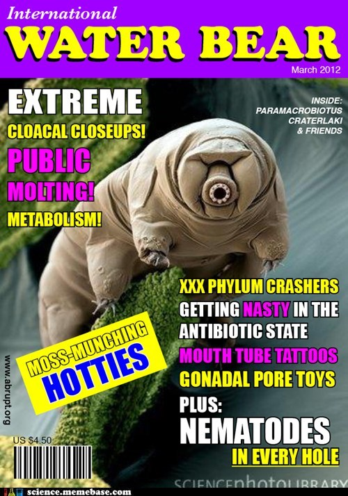 Fake Science,magazine,microscopic,science,waterbear,wtf
