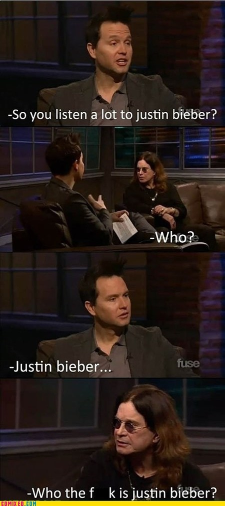 interview,justin bieber,Ozzy Osbourne,pop music,the internets