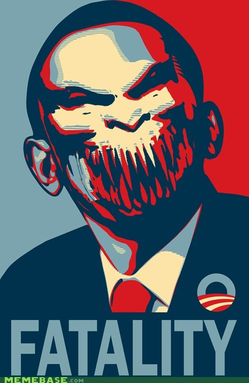 barack obama,barakka,crossover,fatality,Mortal Kombat,politics