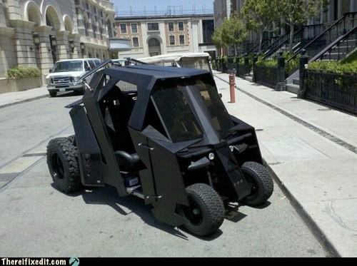 batcart batman golf cart Hall of Fame the dark knight the dark knight rises