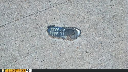 buried in cement,ice age,indestructible,nokia