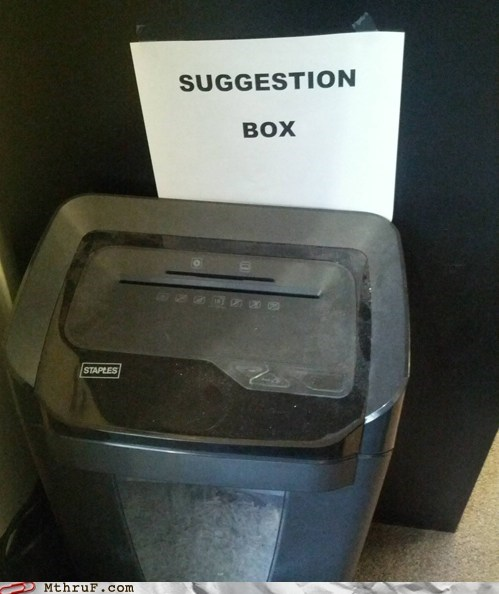 suggestion box,paper shredders