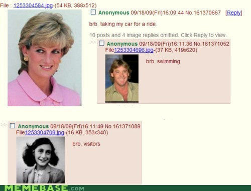 4chan anne frank lincoln princess di Text Stuffs