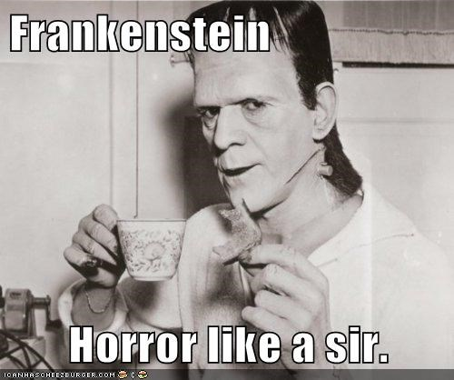 boris karloff,frankenstein,horror,monster,tea,toast
