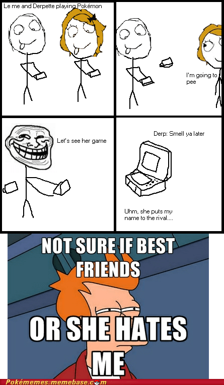 assface fry meme not sure if Pokémon rage comic Rage Comics rival