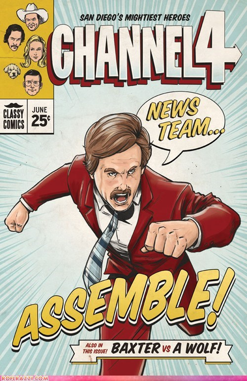 anchorman,art,funny,illustration,Movie,superhero,Will Ferrell