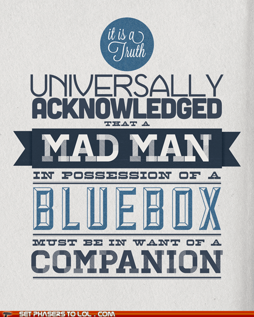 art best of the week blue box companion doctor who mad man Pride And Prejudice the doctor wibbly wobbly timey wimey