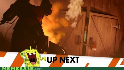 banner meet the pyro Memes SpongeBob SquarePants team fortress - 6375415808