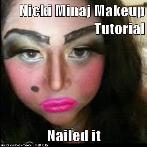 Nicki Minaj Makeup Tutorial Nailed it
