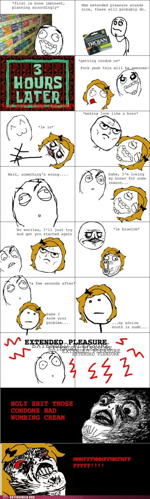 condoms,contraception,extended pleasure,numb,Rage Comics,sexytimes