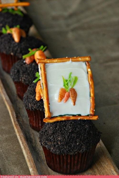 art carrots cupcakes epicute frame - 6375496704