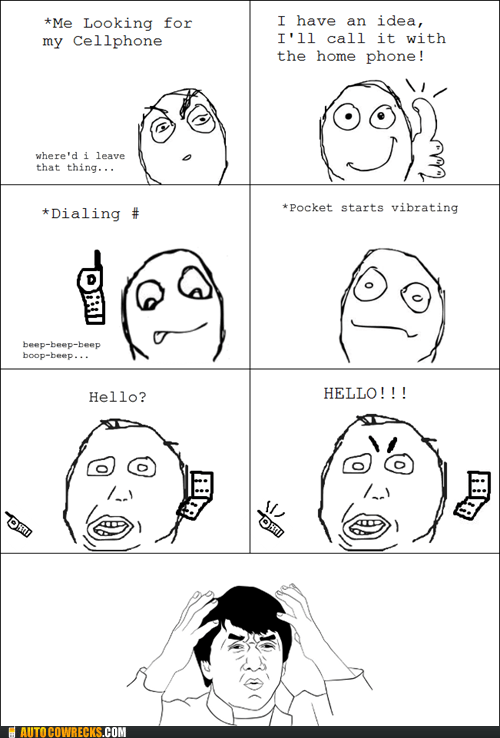answered self,called self,lost phone,Rage Comics