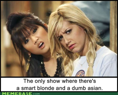 asian,blonde,dumb,Memes,smart,TV,zac and cody