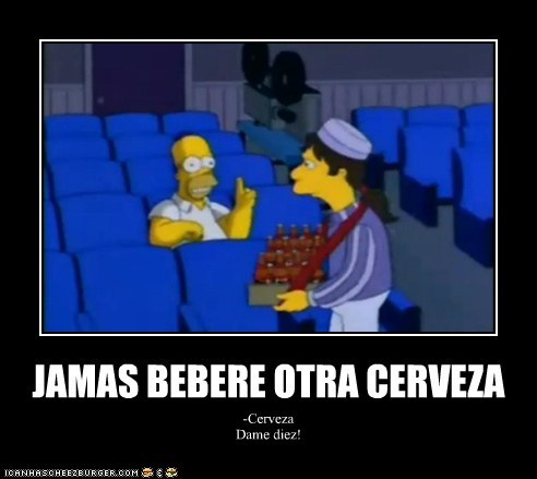 JAMAS BEBERE OTRA CERVEZA