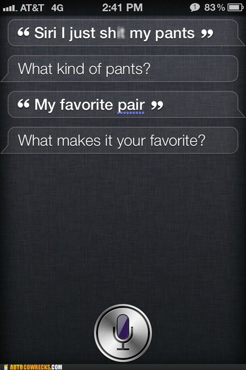 favorite pants,pants,priorities,siri,stupid questions