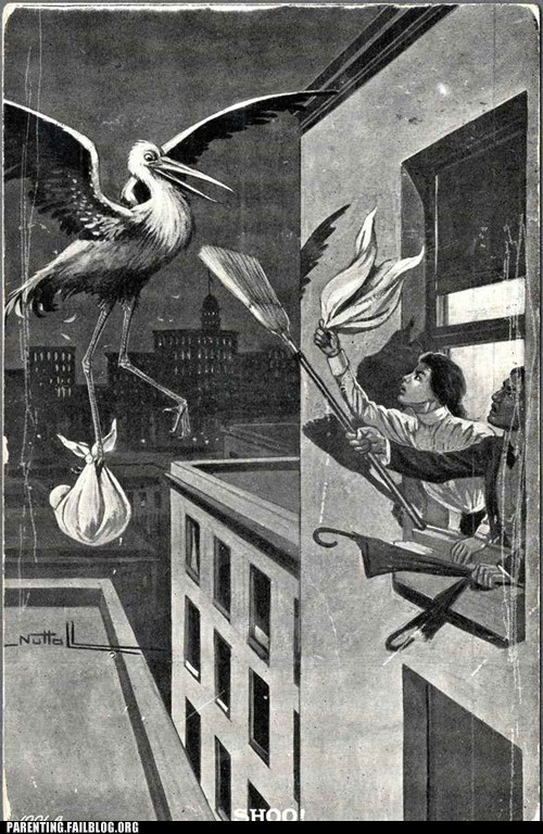 baby,broom,stork
