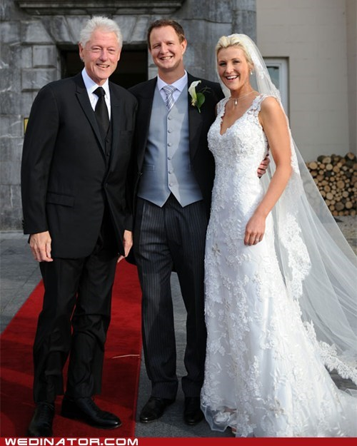 bill clinton,bride,funny wedding photos,groom,politics,presidents