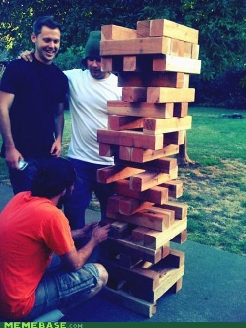 huge,jenga,mother of god,The Internet IRL