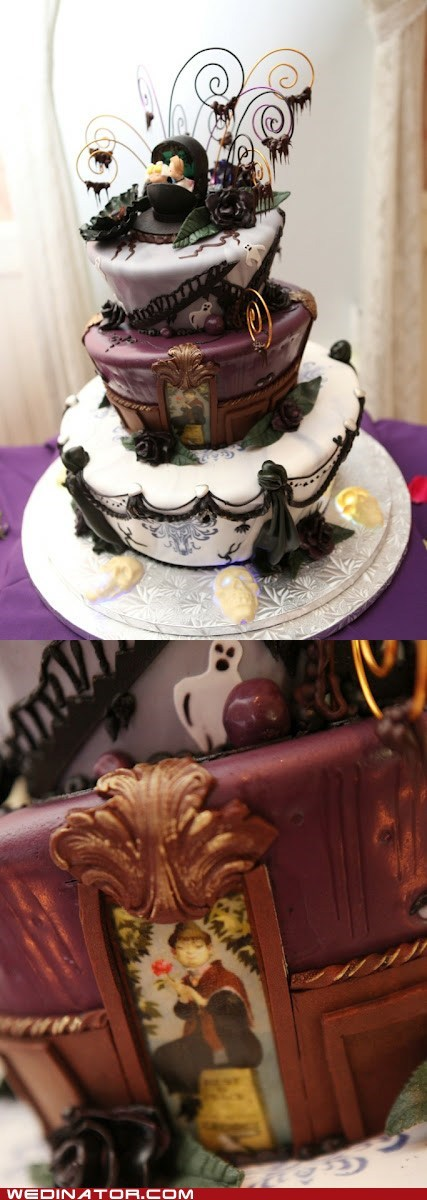 disney,funny wedding photos,Hall of Fame,Haunted mansion,wedding cake