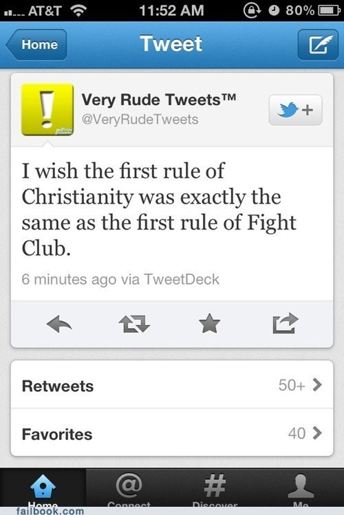 christianity faith fight club religion tweet twitter - 6376034048