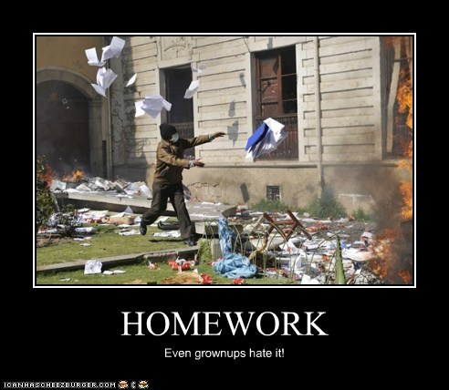 HOMEWORK Even grownups hate it!