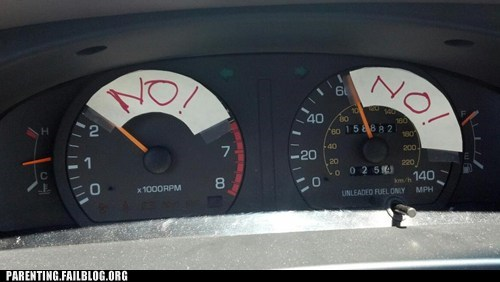 driving no speedometer