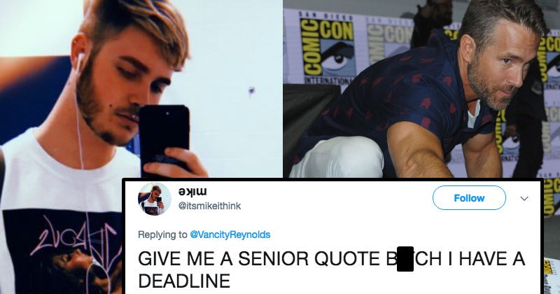 twitter yearbook deadpool superheroes ryan reynolds fans yearbook quotes - 6376197