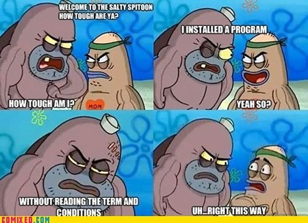 cartoons salty SpongeBob SquarePants TV we got a badass over here
