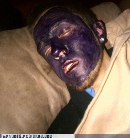 drawn on passed out purple marker purple people eater sharpie - 6376329984